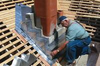 Flashing a Chimney With Soldered Copper