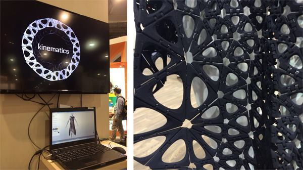 Nervous System's 4D-printed Kinematics dress (right) and online design and visualization platform.