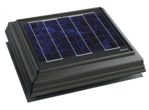 Broan-NuTones Solar-Powered Attic Ventilator (SPAV) begins working at first light instead of waiting until it detects a high temperature, allowing it to remove moisture produced by cool overnight air and to remove heat before temperatures get too high. The unit requires no electricity or fuel, emits no pollutants, and qualifies for a federal tax rebate of up to 30% of its cost. SPAVs solar panel is made of high-strength tempered glass that can withstand golf ballsized hail and hurricane force winds of up to 140 miles per hour and it wont discolor or warp. It is also sensitive to low light levels and can lie flat on the roof. SPAVs trim comes in black, brown, or weather wood. broan.com