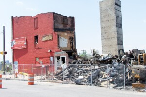 The Mary Harvin Center was under construction when it burned down in the Baltimore riots last April.