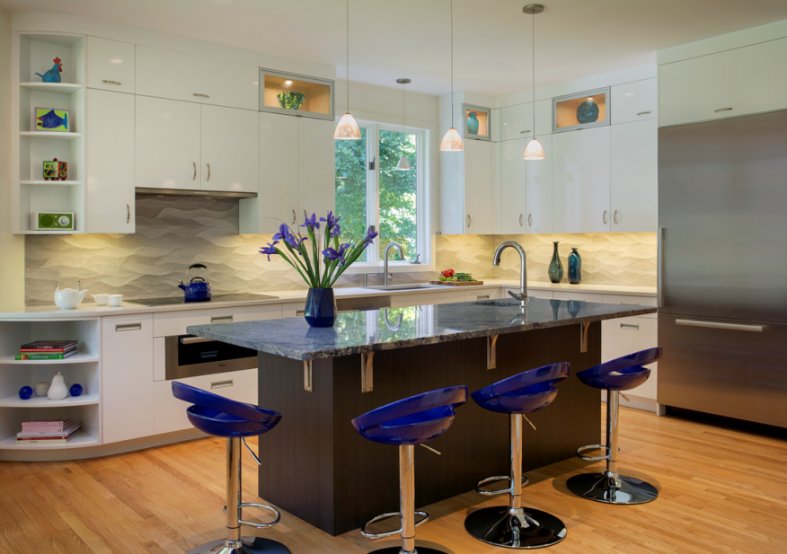 In simple designs like this kitchen remodel by Peter Feinmann, the details make a big difference.