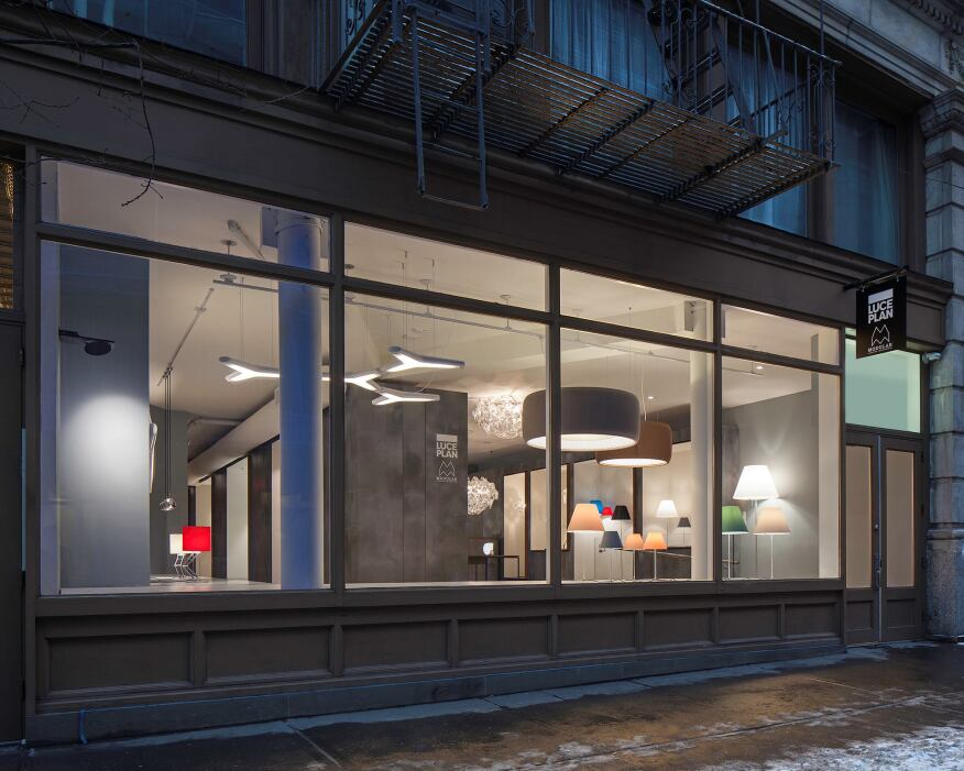 View of the showroom from Wooster Street.