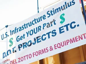The Stimulus Bill was a main topic of conversation at this year's World of Concrete.