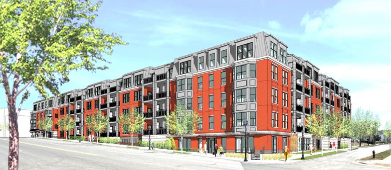 A rendering of The Cambric, a 55+ independent living project currently under construction in St. Paul, MN.