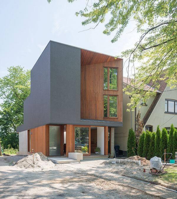 Williamson Chong Architects' Bala Line House, in the Moore Park neighborhood of Toronto. Chong values wood's ability to reinforce the heart of a home or neighborhood.
