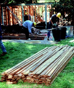 Recycling lumber is one way to cut costs while protecting the environment.