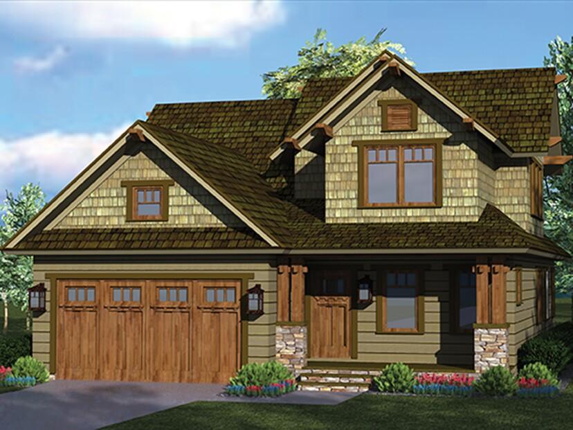 Fourplans west coast style builder magazine design plans for West coast home plans