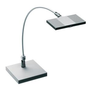 The Curve by Finelite is a portable LED desk lamp that achieves efficacy of nearly 50 lumens per watt. The luminaire features QuickTouch dimming to 5 percent and a field-replaceable LED module. It comes in a silver finish with 188 RAL colors available upon request. The Curve is manufactured with a high-performance Cree XP-E LED package and takes 8W of power. Its light output is 363 lumens, and it is backed by LM-79 testing, LM-80 data, and a five-year warranty. Reclaimed steel perforations are used to weight the base. finelite.com