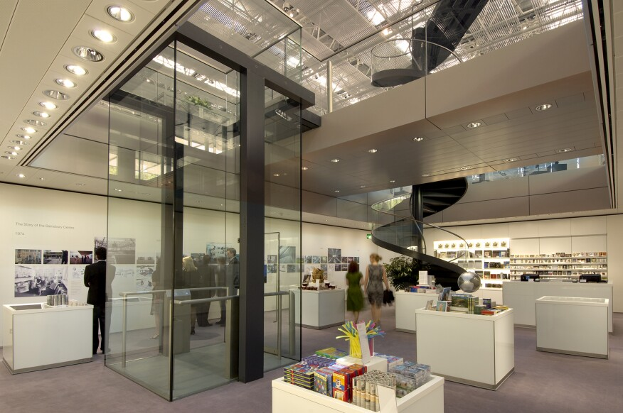 The museum shop before the 2013 renovation