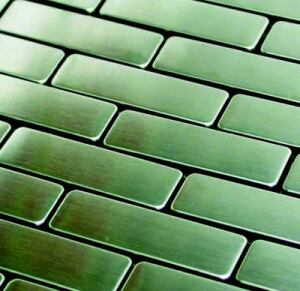 STEEL THIS TILE: Ideal for contemporary houses, this line of stainless steel mosaics is sure to jazz up any kitchen or bathroom.  Available in eight patterns -- including subway, hexagon, and diamond -- the line consists of 100 percent steel tiles, allowing you to match backsplashes with stainless appliances.  The tiles are arranged on a mesh backing measuring 12 inches by 12 inches.  Allstone Imports. 800-983-6188. www.kreana.com