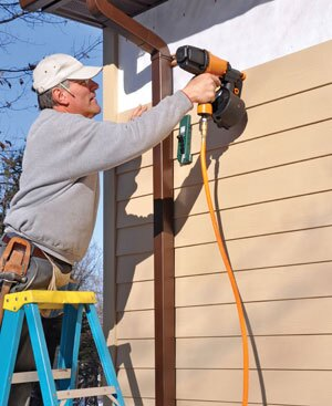 Daily clean-up and attention to close-out details ensure a satisfied siding customer.