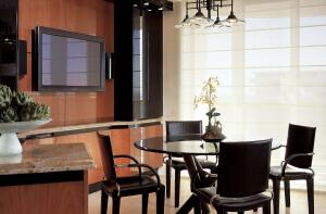 Along with pristine pictures and high-quality sound, flat-screen televisions offer design flexibility and a stylish modern look, opening up placement opportunities that didn't exist before.