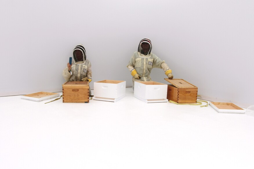Synthetic Apiary, by the Mediated Matter research group at MIT
