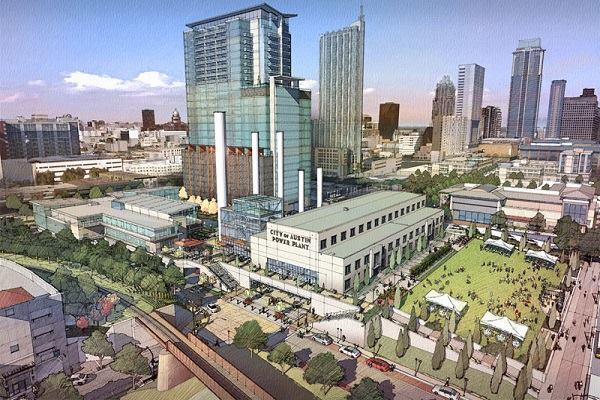 Renderings for Austin's new Seaholm district development.