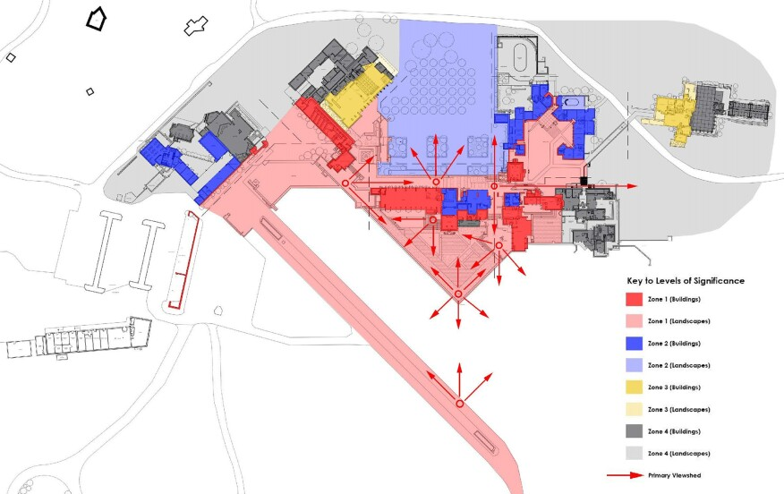 Preservation zoning plan of Taliesin West from the preservation master plan