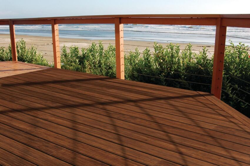 Cali Bamboo's BamDeck Fossilized Strand Bamboo Deck Boards