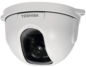 Be on the lookout for the IK-DF03A minidome surveillance camera from Toshiba, which comes in three designs, each with a different fixed lens (3.6 mm, 8 mm, and 12 mm). The wall- or ceiling-mount camera features an all-metal housing, and the pan direction is adjustable up to 350 degrees by rotating its cover ring by hand.  toshibasecurity.com