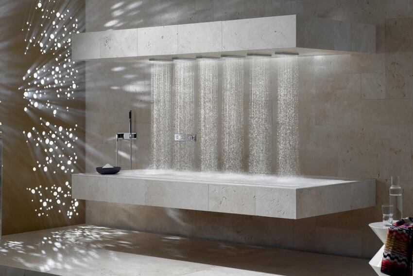 Horizontal Shower From Dornbracht