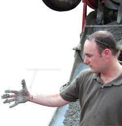 "The ""NRMCA test"" for pervious concrete consistency is to form a ball that should keep its shape in your hand. But also observe what happens when you open your hand and let the material fall. If it doesn't leave a good coating of paste on your hand, it is too dry."