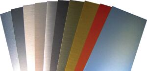 Specialty finishes  Fabral Metal Roof and Wall Systems  fabral.com  Unlimited spectrum of colors and designs such as semitransparent pigmented clear coats, metallic, embossing, stone, and natural wood - Available in aluminum substrates for painted coils, flat sheets, and the complete Fabral panel profile offering
