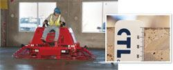 The size of the machine matters. This ride-on trowel produced a 1/8-in.-thick densified layer.