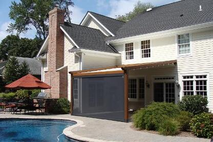 Private Residence, Northern NJ - Retractable Pergola Awning with Integrated Solar Shade