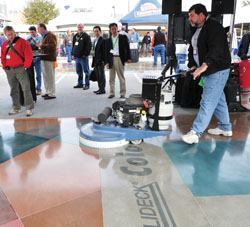 Concrete polishing will be just one of the demonstrations on tap at the Concrete Surfaces & Decorative Pavilion at World of Concrete.