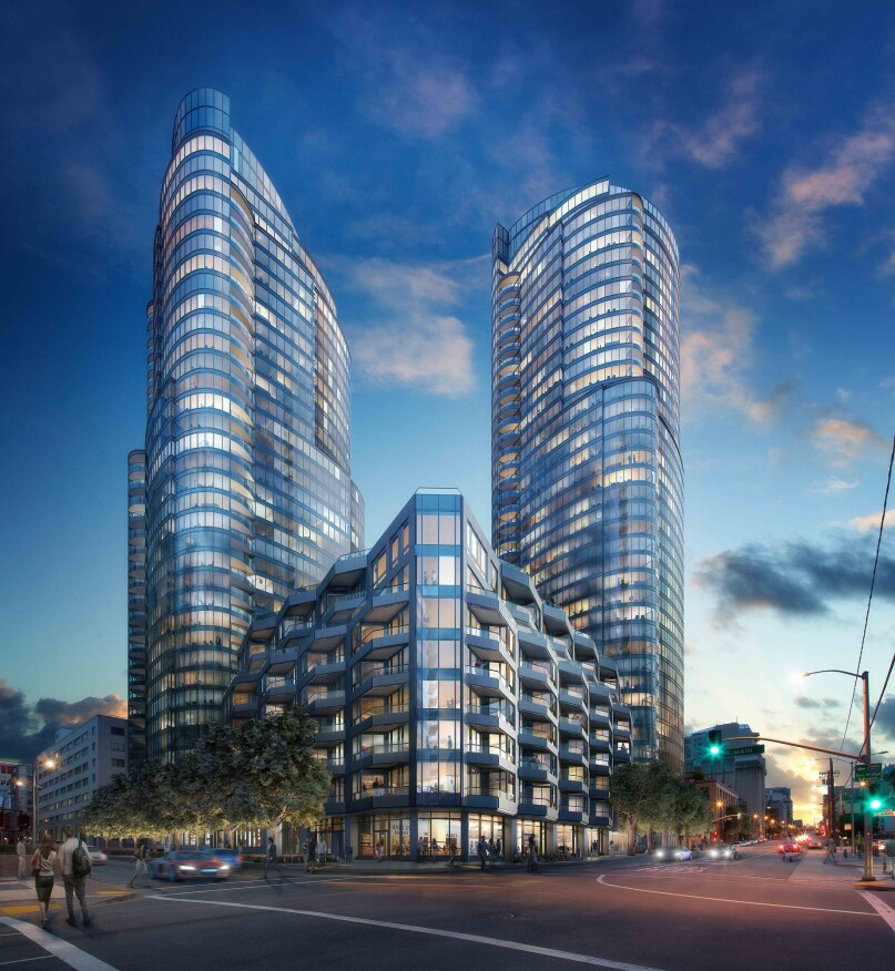 Lumina, San Francisco; developed by Tishman Speyer (New York) and Vanke (Shenzhen, China)