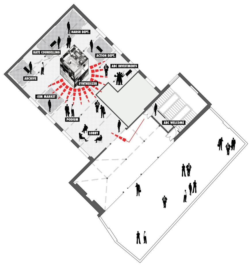 Floor plan for the biennial
