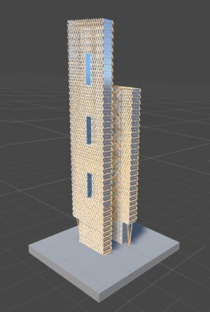 Building model in its base program environment