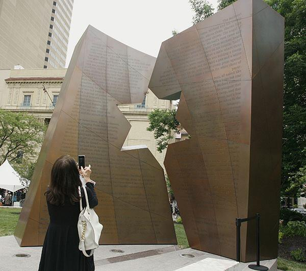 The Ohio Holocaust and Liberators Memorial, designed by Daniel Libeskind, AIA, was dedicated this week.