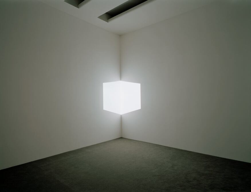 Afrum I (White) (1967)  Projected light, dimensions variable  Solomon R. Guggenheim Museum, New York, Panza Collection, Gift 92.4175  © James TurrellInstallation view: Singular Forms (sometimes repeated), Solomon R. Guggenheim Museum, New York, March 5 - May 19, 2004
