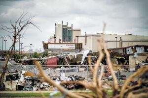 The Warren Theater was built to be tornado-proof and reopened just eight days after an EF-5 tornado destroyed most of the area around it on May 20, 2013, in Moore, Okla.