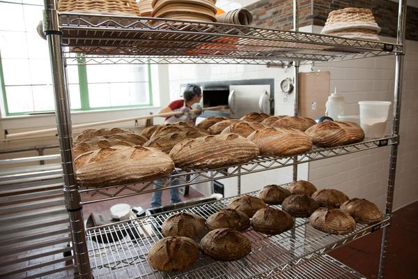 Food waste from the bakery will soon be fed into the digester. The bakery's food products are sold locally.