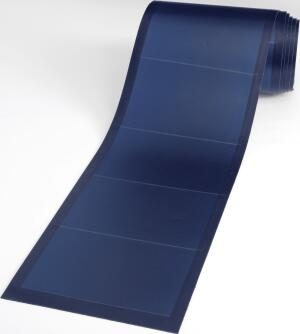 place holder  Be sustainable and secure with solar laminates from United Solar Ovonic. The lightweight, flexible photovoltaic sheets are encapsulated in   UV-stabilized polymers to provide extra endurance, and their glass-free construction and peel-and-stic