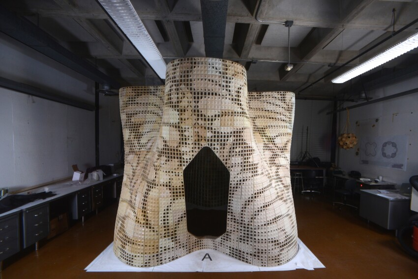 U.C. Berkeley Researchers 3D Print a Cement-Powder Pavilion