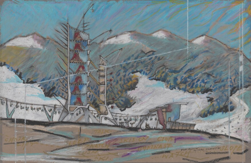 Nigel Coates, Ski Station, 1982. © Nigel Coates. From the Collection of the Alvin Boyarsky Archive.