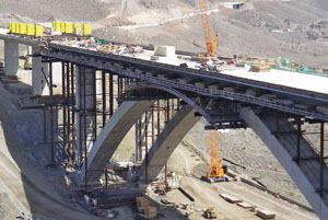 OxBlue Corp. installed solar-powered cameras in four locations to document construction of the Nevada DOT's Galena Creek Bridge. Cameras to the north and south (view shown here) of the bridge were positioned near the right-of-way line on the west side of the freeway alignment: close enough to provide good views, but far enough away to be protected from construction activities. Photo: OxBlue Corp.