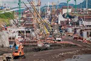 The Colossal Panama Canal Project Focuses on Concrete