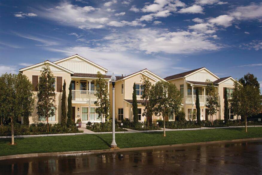 IRVINE REDESIGN: Like many other developers and builders, the Irvine Co. commissioned new, smaller home plans to appeal to buyers at Irvine Ranch. These Bassenian Lagoni-designed homes have been selling well in Irvine's Woodbury community.