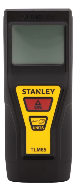 Stanley's TLM65 Laser Distance Measurer is lightweight and compact and features easy two-button operation.