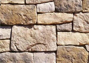 Rough Cut profile of architectural stone veneer  Eldorado Stonewww.eldoradostone.com  Mimics limestone block - Features embedded fossilized artifacts and a rough, stonelike face - Available in vineyard trail, autumnleaf, and wheatfield