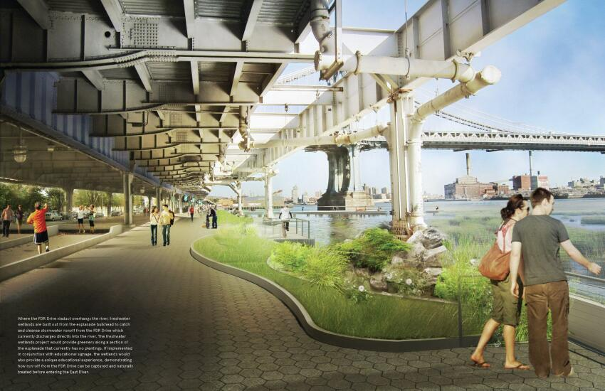 Proposed green way under FDR Drive.