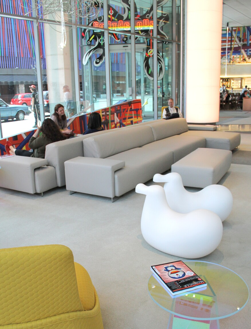 The new lounge area in the lobby
