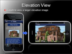 CONVERSATION PIECE. Shea Homes' brochure app allows iPhone users to access information about its homes and floor plans, share files, and see what other buyers said about Shea's communities on Facebook and Twitter.