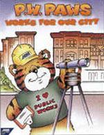 P.W. Paws helps educate-grade-schoolers about various aspects of public works. Source: American Public Works Association