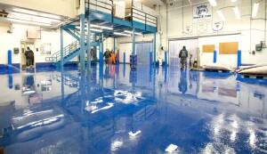 The proper floor finish keeps dangerous pathogens from compromising the sanitary integrity of equipment, processes, and produce. Seafood wholesaler Boston Sword and Tuna used Flowcrete's Flowfresh HF. Photo: Flowcrete Americas