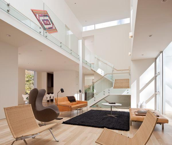 Living and dining areas.