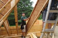 Deep Rafters for a Massachusetts Passive House