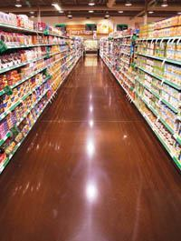 A polished concrete floor in a Sobeys store, the second largest grocery chain in Canada.